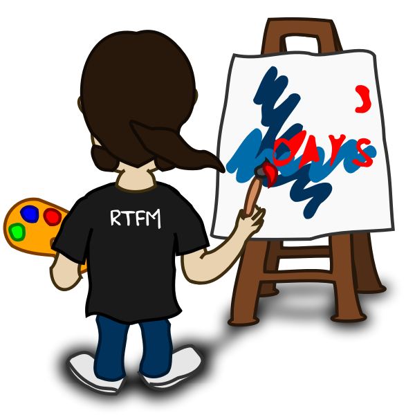 Painter comic character vector image
