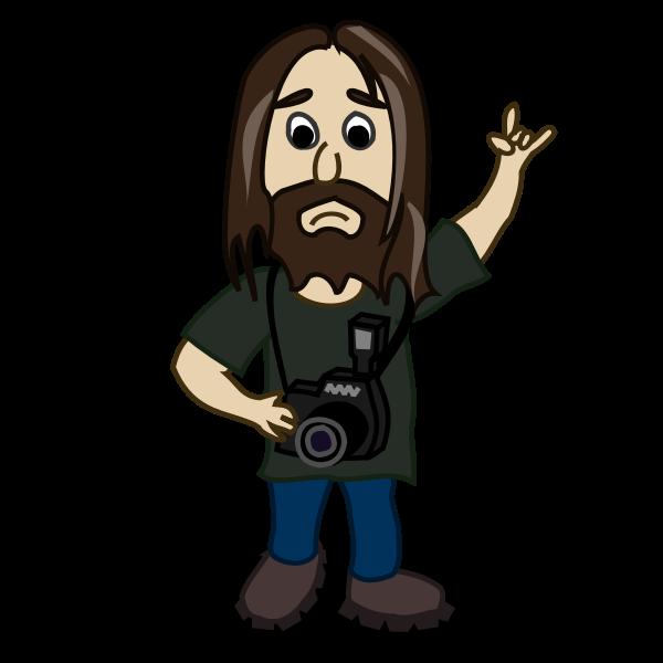 Photographer comic character vector image