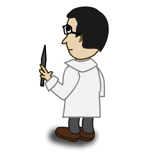 Professor comic character vector image