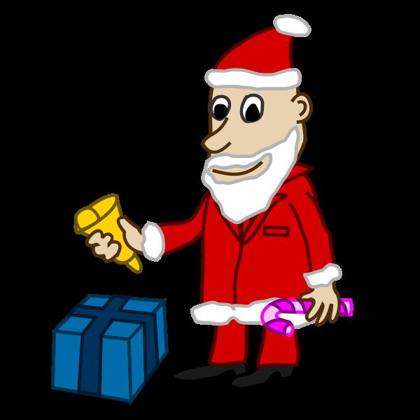 Santa comic character vector image