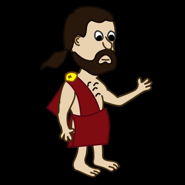 Toga comic character vector image