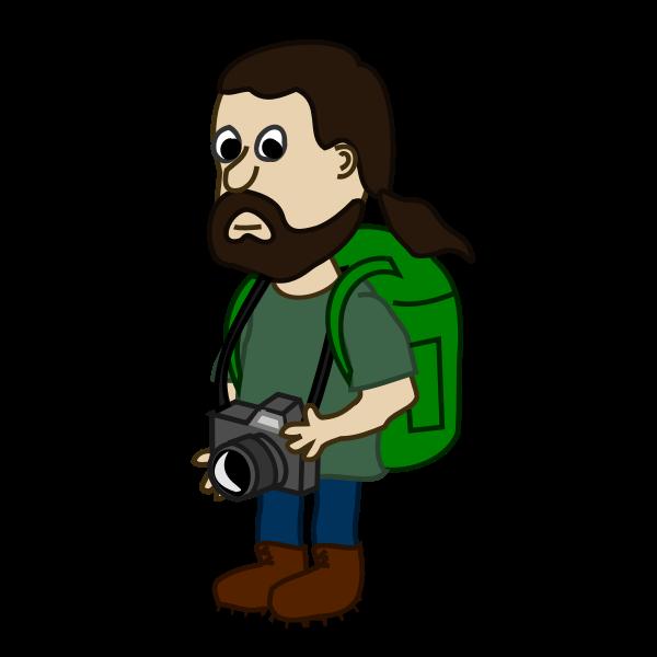 Trekker comic character vector image