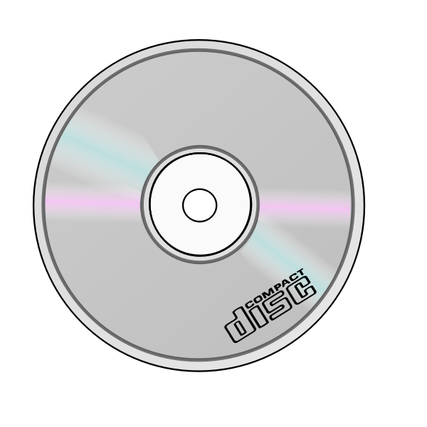 Vector graphics of compact disc