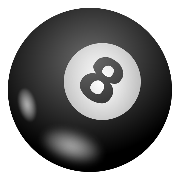 Vector drawing of pool ball 8