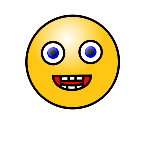 Laughing face emoticon vector image
