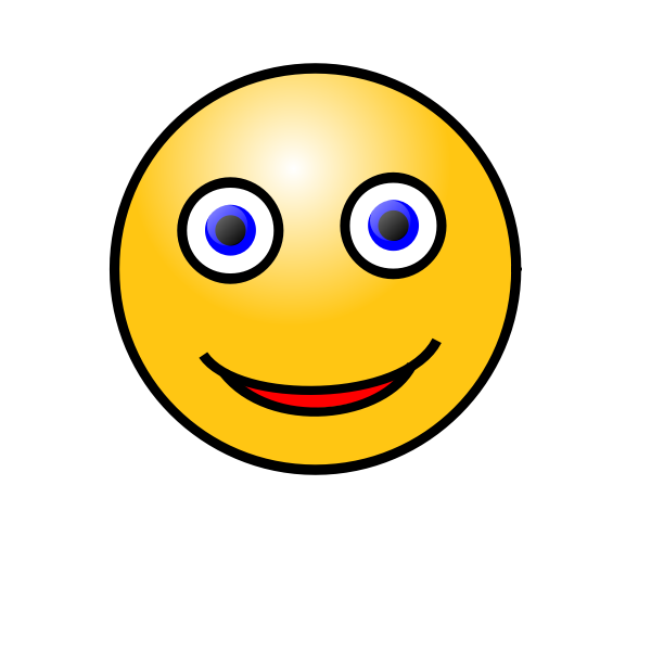 Staring smiley face icon vector image
