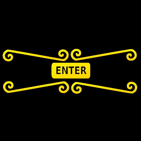 Enter sign vector image