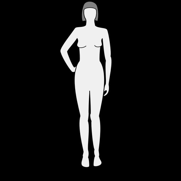 Female body silhouette vector clip art