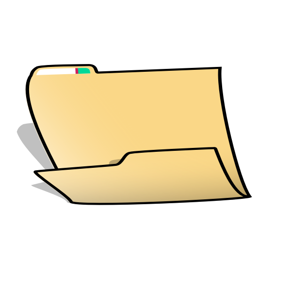 Office folder vector image