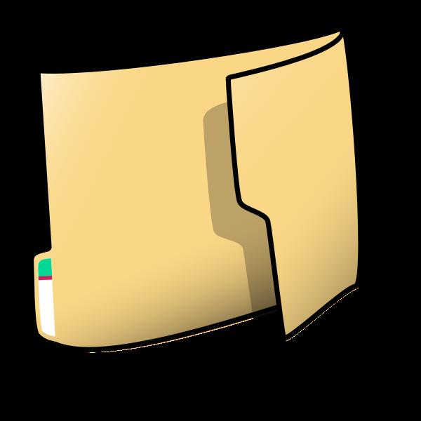 Office folder vector illustration