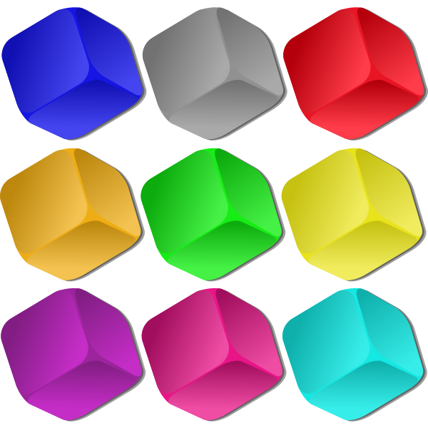 Vector drawing of colorful game playing marbles