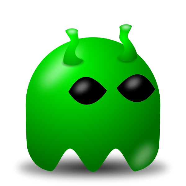Game baddie alien vector image