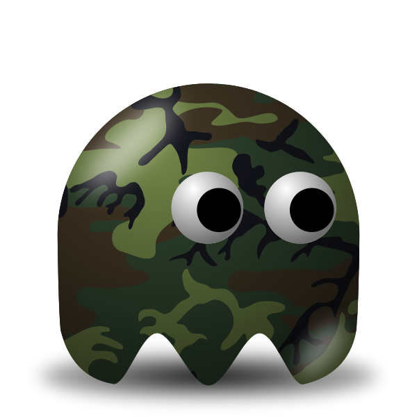 Game baddie camouflage soldier vector image