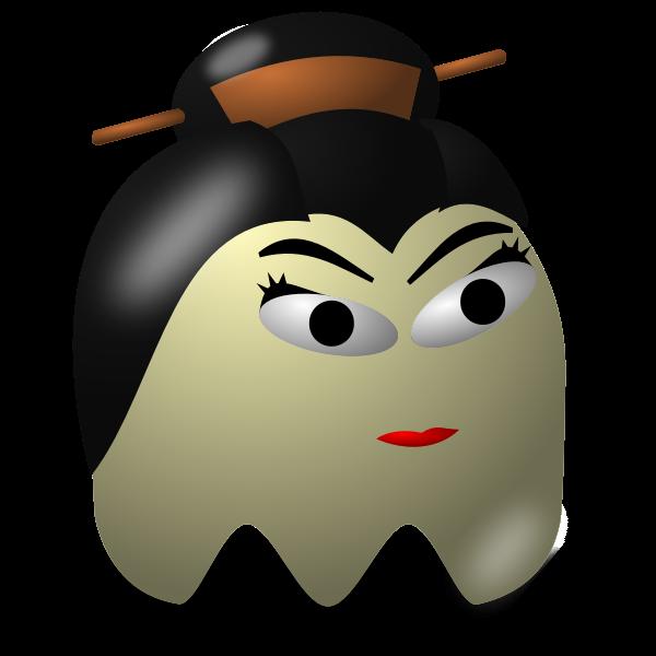 Game baddie geisha vector image