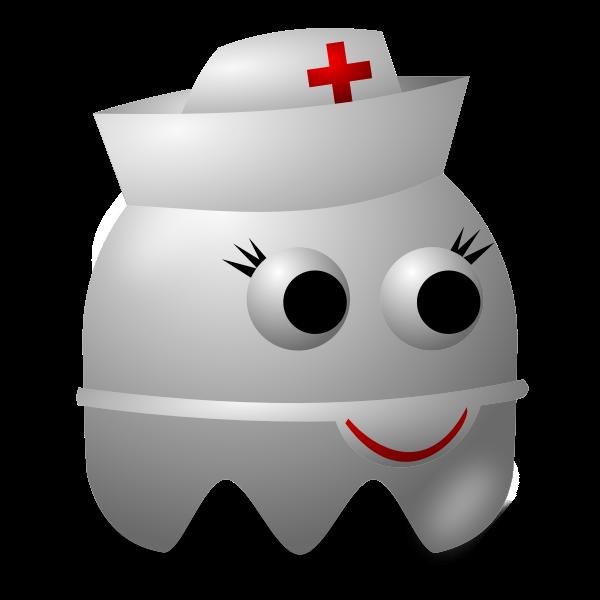 Cartoon image of a nurse