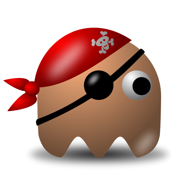 Game baddie pirate guy vector image