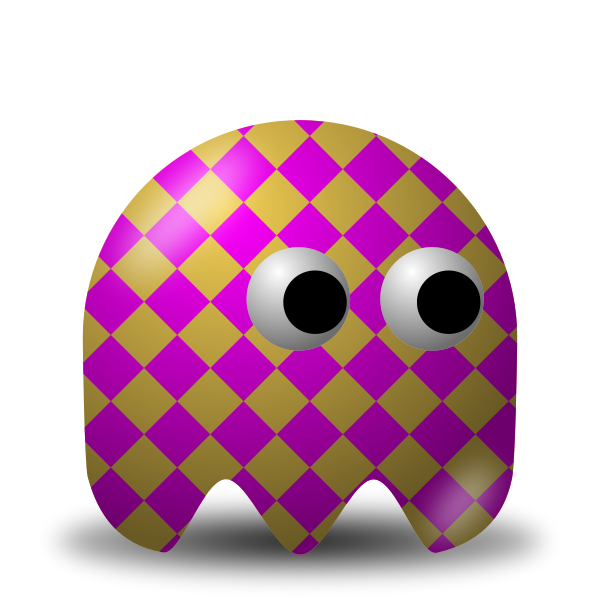 Game baddie squarey guy vector image