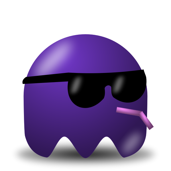 Game icon guy in sunglasses vector image