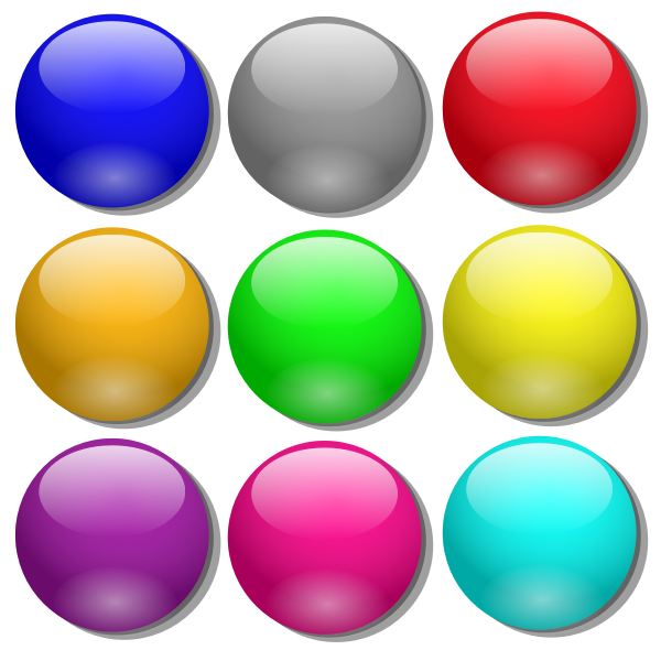 Vector illustration of set of colorful balls
