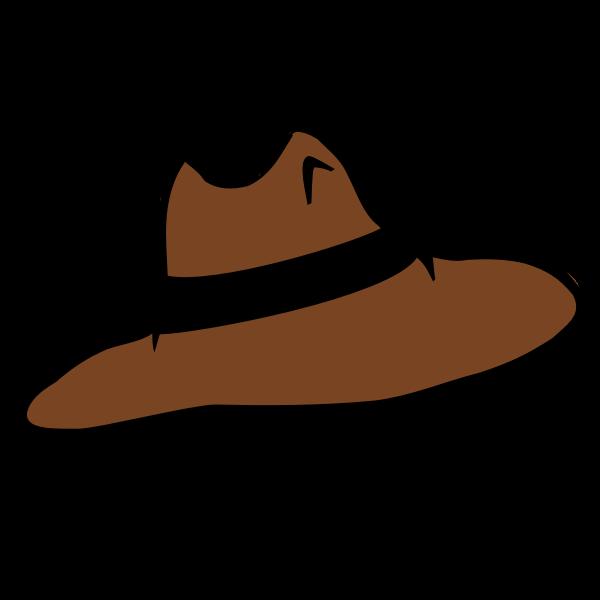 Brown hat vector illustration