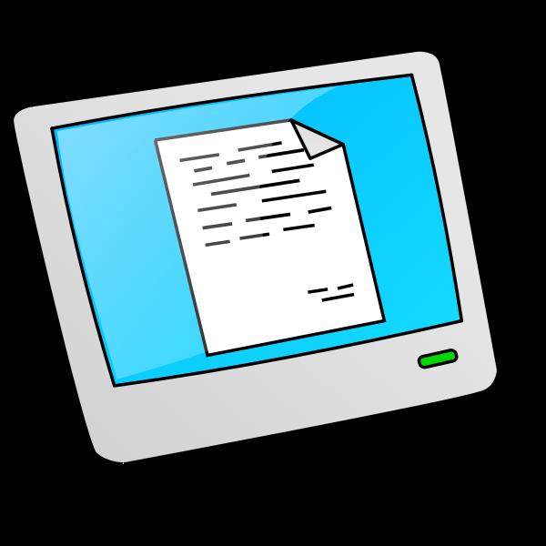 Cartoon style LCD vector drawing