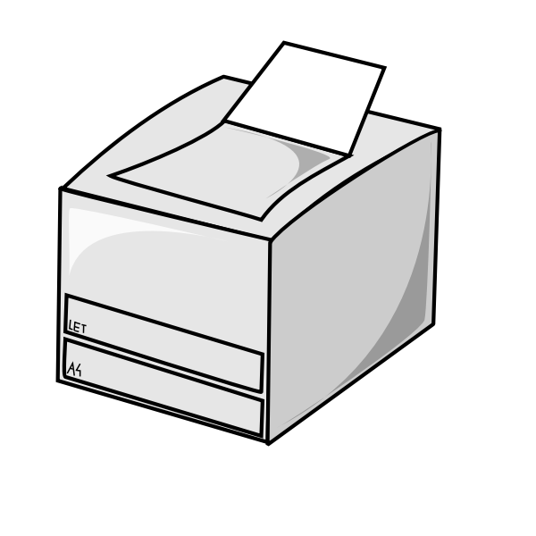 Laser printer vector icon