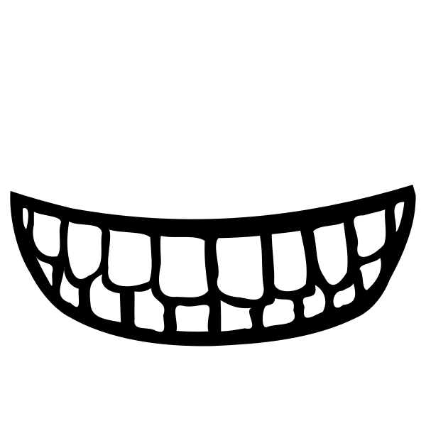 Mouth With Teeth Vector Image