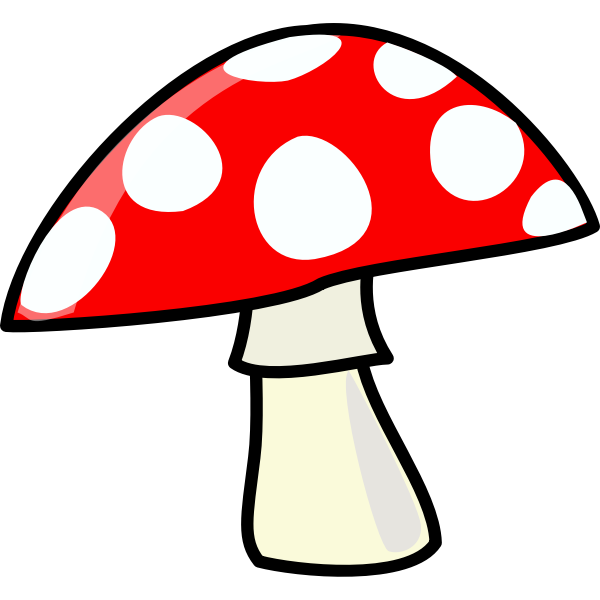 Vector image of spotty red mushroom icon