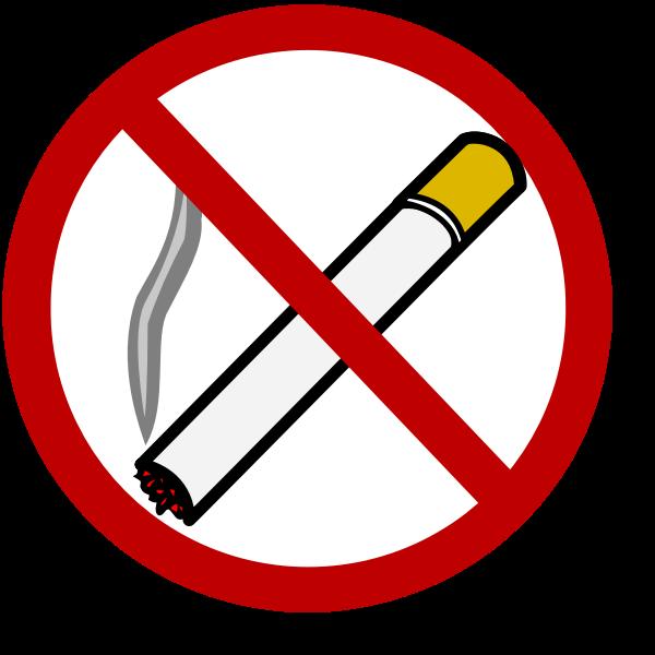 No smoking sign vector clip art