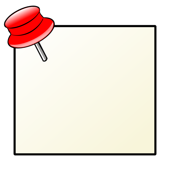Note with pin vector image