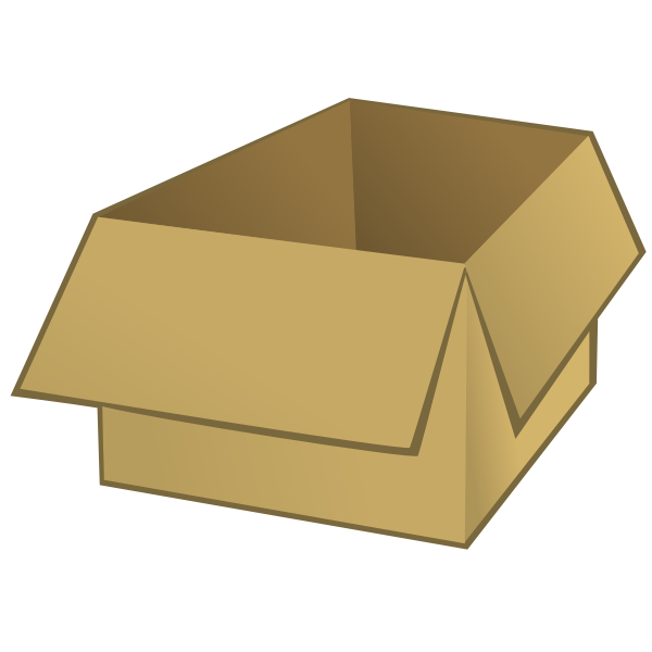 Vector image of a brown box