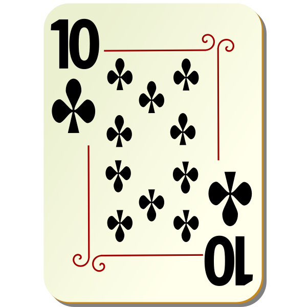 Ten of clubs vector illustration