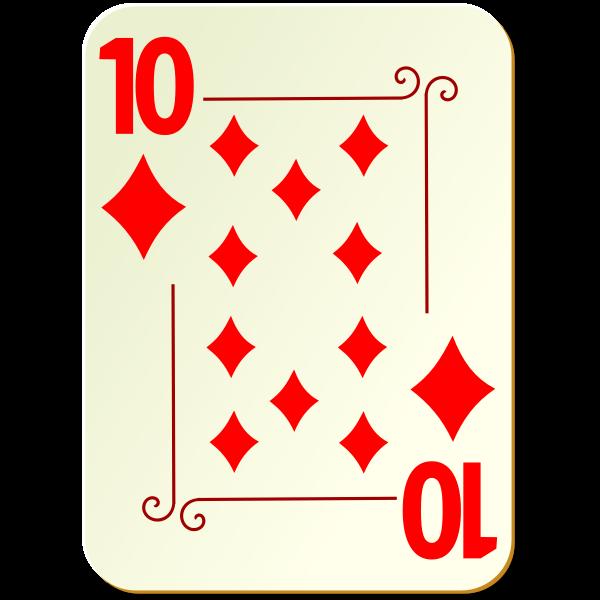 Ten of diamonds vector graphics