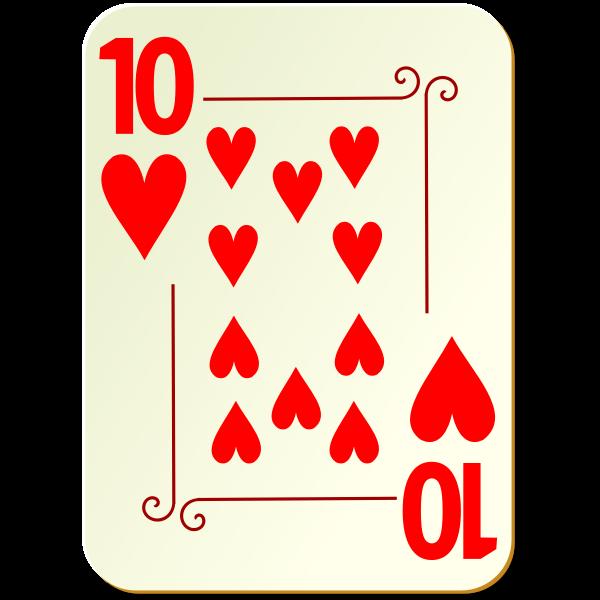 Ten of hearts vector clip art