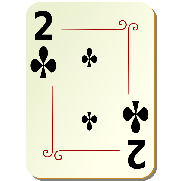 Two of clubs vector graphics