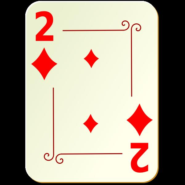 Two of diamonds vector graphics