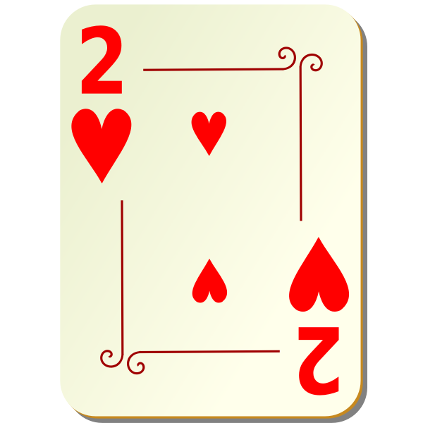 Two of hearts vector drawing