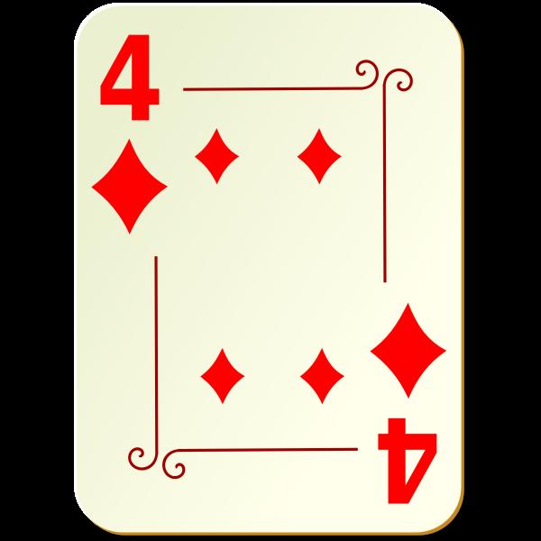 Four of diamonds vector clip art