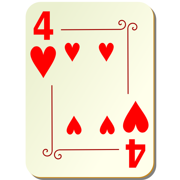 Four of hearts vector image