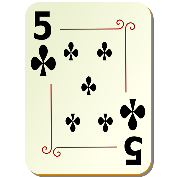Five of clubs vector image