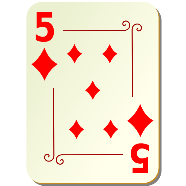 Five of diamonds vector graphics