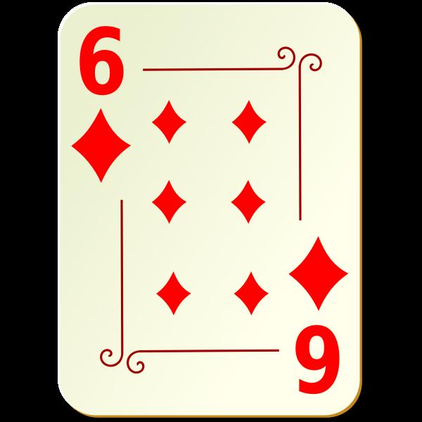 Six of diamonds vector drawing