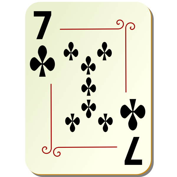 Seven of clubs vector graphics