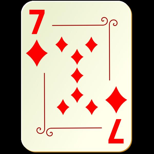 Seven of diamonds vector illustration