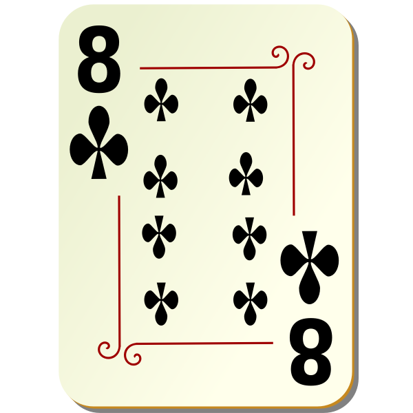 Eight of clubs vector drawing