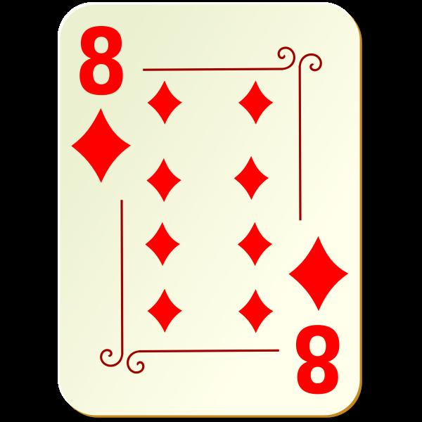 Eight of diamonds vector image