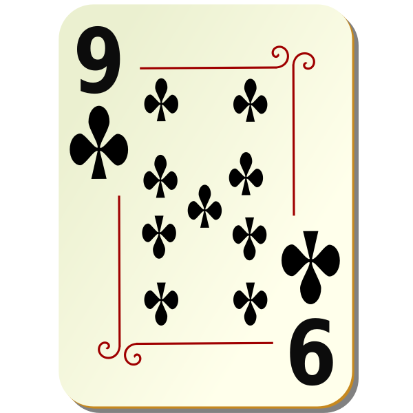 Nine of clubs vector image