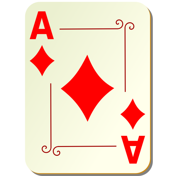 Ace of diamonds vector drawing