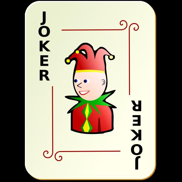 Black Joker playing card vector image