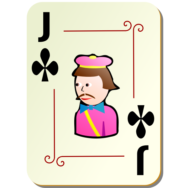 Joker of clubs vector clip art